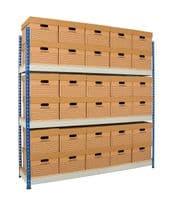 Wide Open Bays - 4 Shelves - 1220 mm Wide